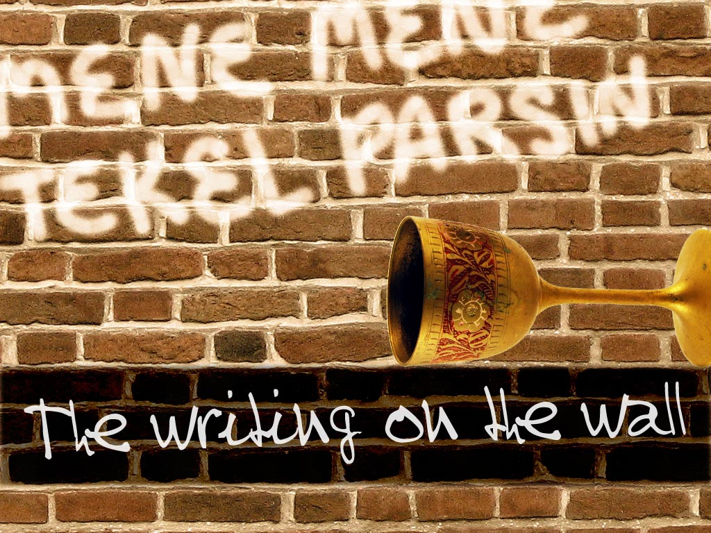 escritura en la pared: